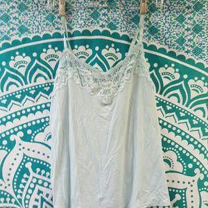 Lacy pajama set, light blue